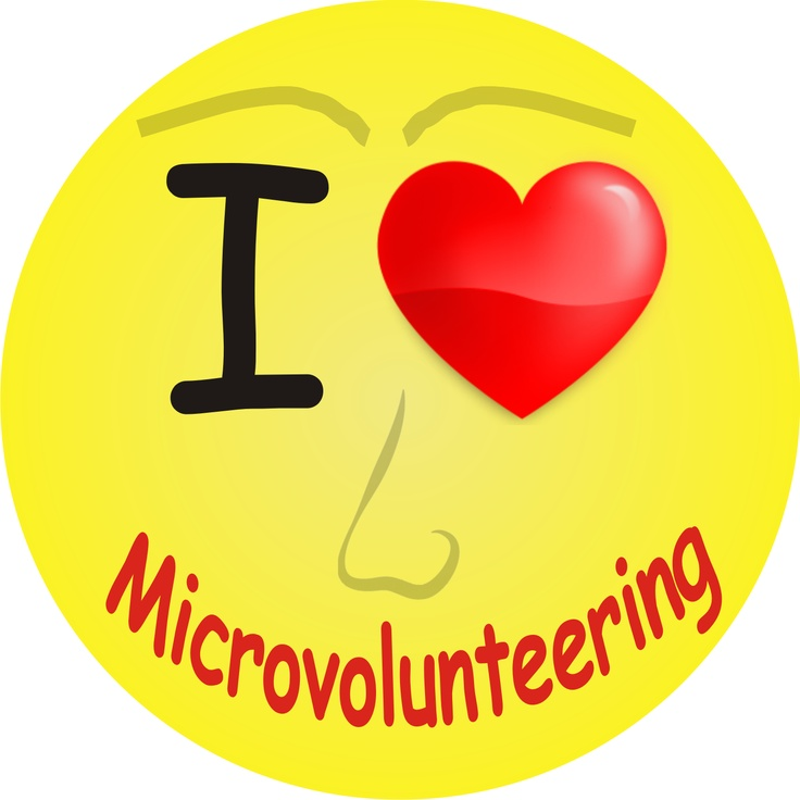 """I Love Microvolunteering"". Bite sized 'do good' actions that benefit worthy causes in under 30 minutes!   helpfromhome.org/"