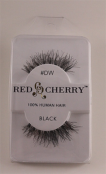 Red Cherry Eyelashes DW (Demi-Wispies) is a natural looking lashes and you can wear it daily. Though it looks like a mess in the picture when you put them on, they will look totally natural and beautiful.     Most of lashes are medium in length with long little wispy pieces. Red Cherry #DW will be a great starter if you have never tried on false eyelashes.      Get it at our eBay Store at the top.