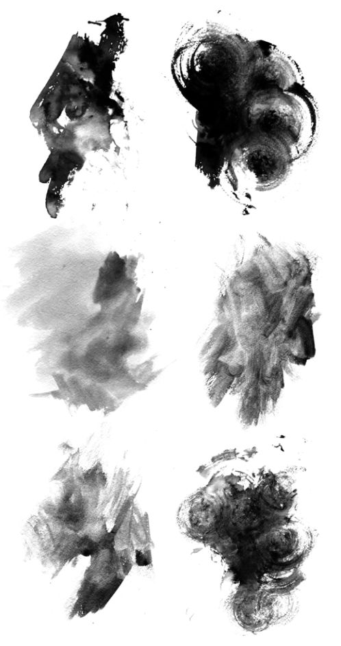 Free High Res Photoshop Brushes: Grungy Watercolor