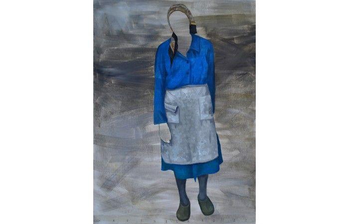Marinela Botez Cultural Identity  Oil on canvas 90 × 65 cm (35.4 × 25.6 inch) Estimate €600 - €900  http://lavacow.com/cultural-identity.html