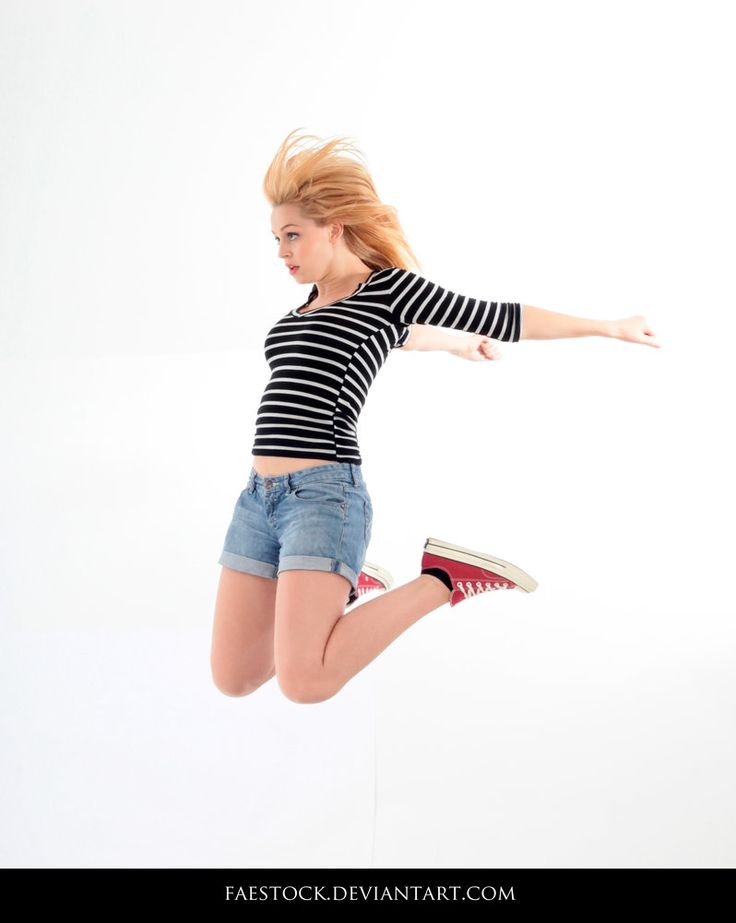 Jumping - Action Pose Reference 20 by faestock on DeviantArt