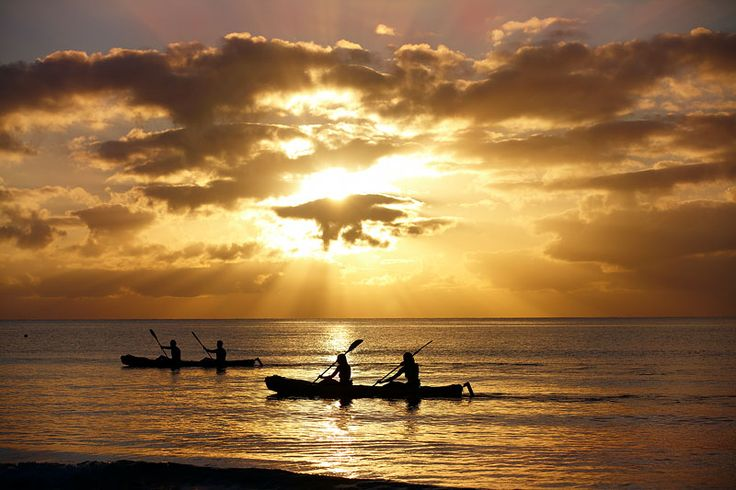 Kayaking at Sunset, Cairns Australia