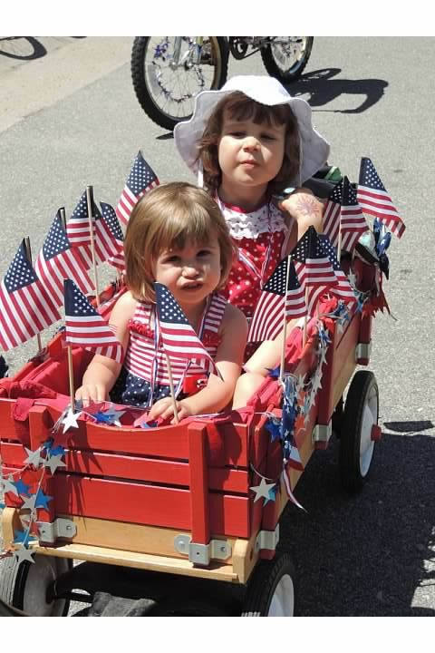 4th of july stroller decorations