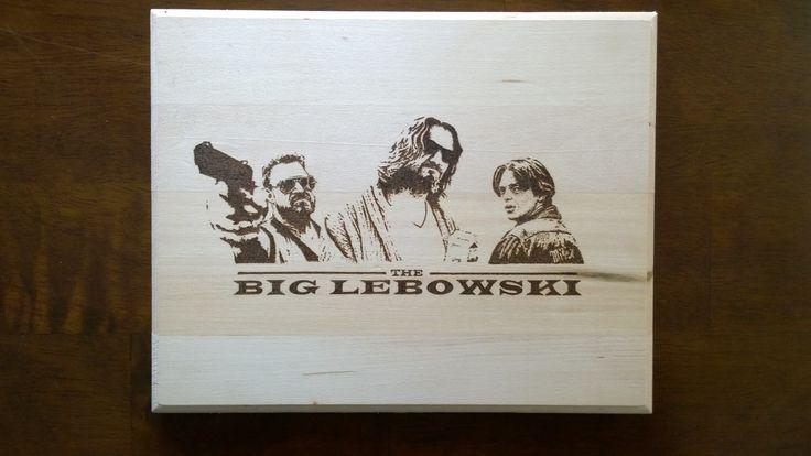 The Big Lebowski - Pyrography by E.Klassen.  Before clear-coat.