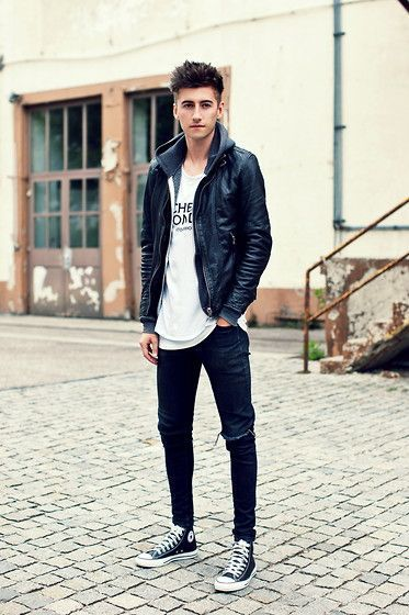 skinny jeans outfit with jacket