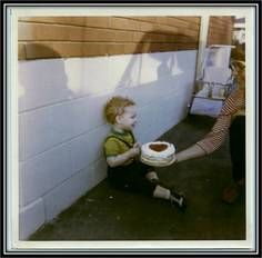 Glen Downey, the founder of Comics in Education, on his second birthday. :-)