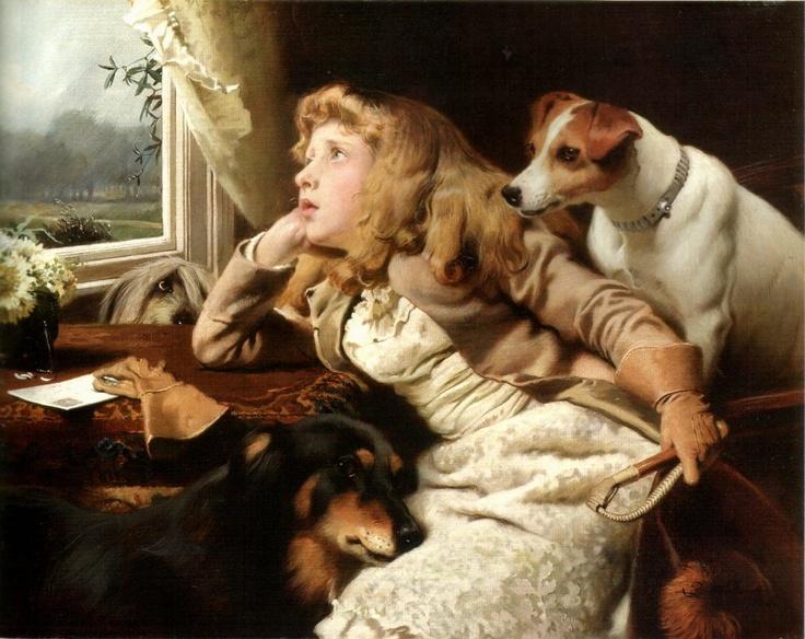 No Ride Today -   Charles Burton Barber (English, 1845-1894)