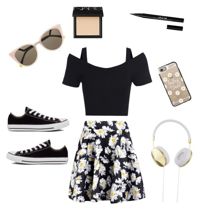 ☀️Summer look☀️ by helena-saetervik-fredriksen on Polyvore featuring polyvore, fashion, style, Boohoo, Converse, Fendi, Casetify, Frends, NARS Cosmetics and Stila
