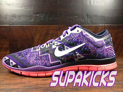 Nike Free TR Fit 4 Women's Rasin Purple Textile Athletic Running Sneakers Sz 7.5