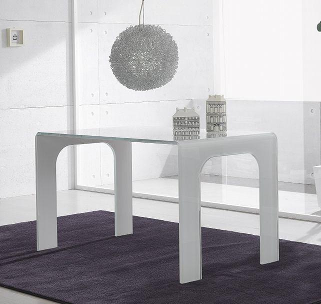 Tavolo in plexiglass opalino termoformato