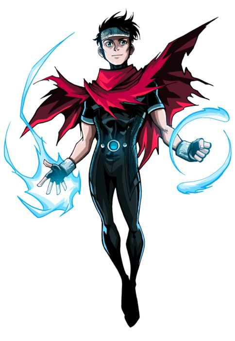 "Wiccan (real name William ""Billy"" Kaplan) is a member of the Young Avengers. His appearance is patterned on that of two prominent Avengers, Thor & Scarlet Witch. Like the Scarlet Witch, Billy possesses very powerful magical abilities which make him a key member of his team. Prominently, he is a high profile gay superhero. His story sees him discover that he & the super fast teen hero Speed are in fact long lost twin brothers, & that the pair are in fact the sons of the Scarlet Witch…"
