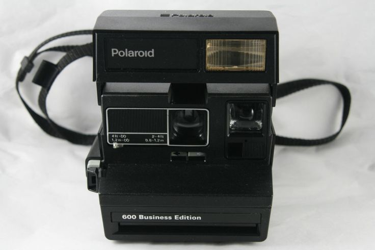 Polaroid 600 Camera Business Edition All Black Silver Detail TESTED Working  | eBay