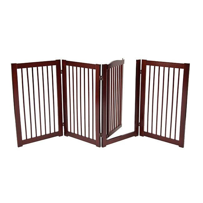 "360˚ DESIGNER DOG GATE WITH DOOR 36"" Free shipping and tax included on all designer dog gates. Add style to your home with our luxury pet gates. Perfect for puppies too! Our indoor and outdoor dog gates will be a great addition to your home. #dog #doggate #talldoggate #petgate #puppygate #designerpetfurniture"