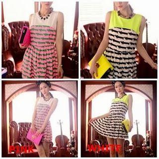 Cat Print Dress (White / Pink) - Amelia Butik Online  Kode Produk : idw79  Bahan : Chiffon (not elastic) High Quality  Bust 88  Shoulder 38 Length 80  Kontak Amelia Butik : SMS : 0856-4063-4309 BBM : 275D50E5