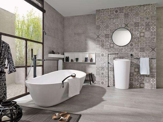 52 best carrelage images on pinterest bathroom ideas bathroom remodeling a - Faience mosaique salle de bain ...
