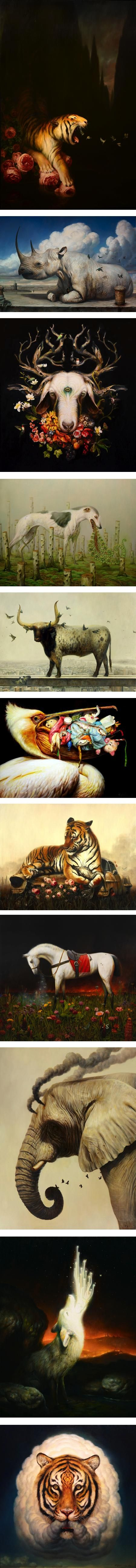 Martin Wittfooth (update)   Lines and Colors :: a blog about drawing, painting, illustration, comics, concept art and other visual arts
