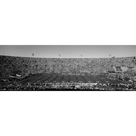 High angle view of a football stadium full of spectators Los Angeles Memorial Coliseum City of Los Angeles California USA Canvas Art - Panoramic Images (12 x 36)