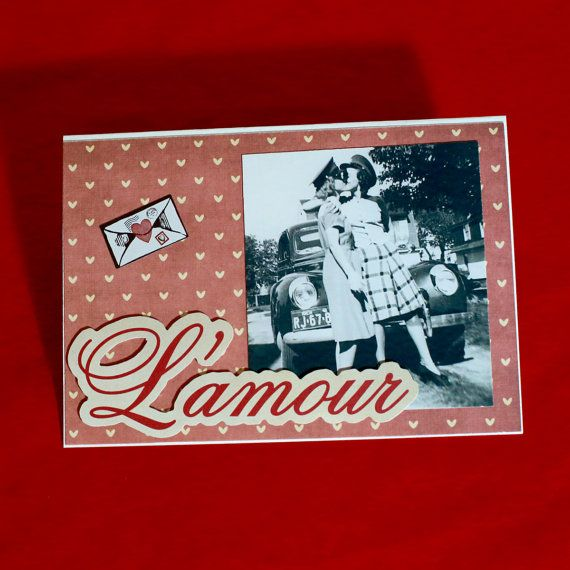L'Amour Greeting Card by HoneysDead on Etsy