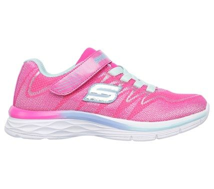 Skechers Kids' Dream N Dash Whimsy Girl Sneaker Pre/Grade School Shoes (Neon Pink/Aqua) - 12.0 M