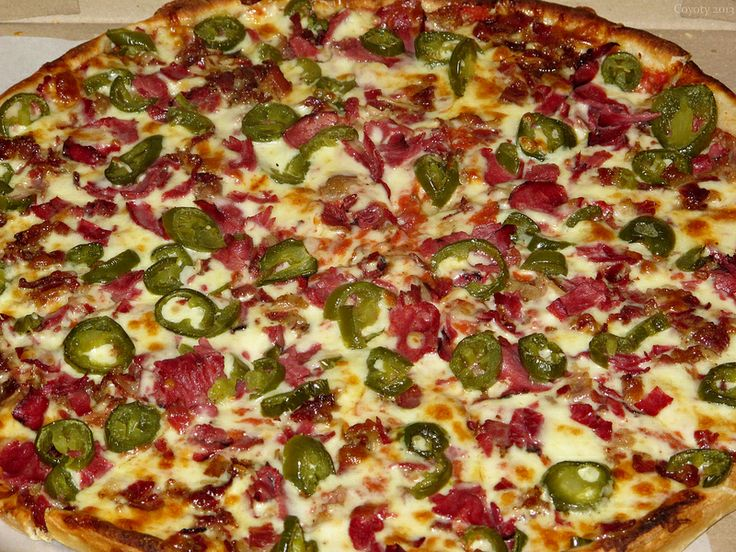 Pepperoni bacon, and jalapeno pizza | it's what's for dinner, that&#3...