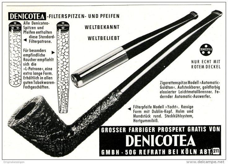 Original-Werbung/ Anzeige 1963 - DENICOTEA MOTIV PFEIFE - ca.  160 X 120  mm