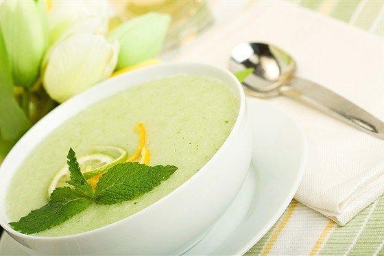 Мятный фруктовый суп