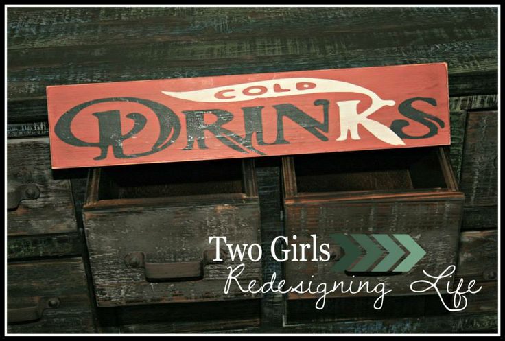 Two Girls Redesigning Life: Cold Drinks Sign