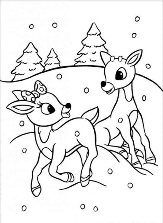 rudolph coloring pages rudolph the red nosed christmas reindeer coloring pages - Children Colouring Book