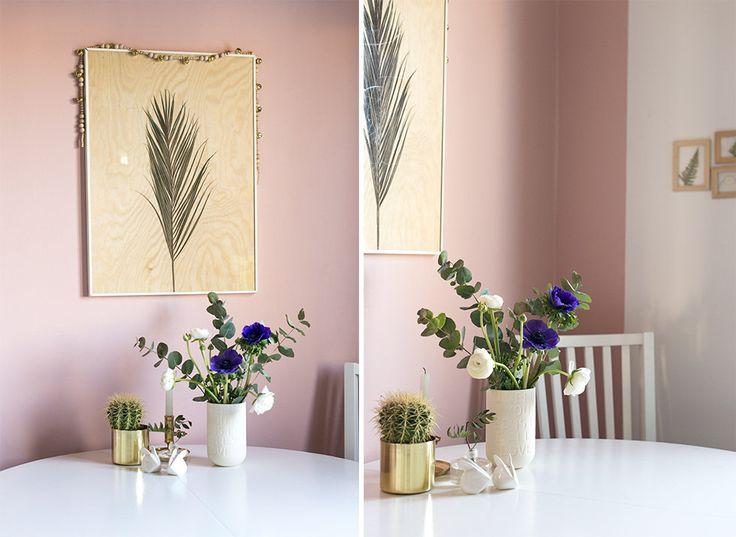 Pink walls painted in Alcro Landsort - By Sandra Hjort.