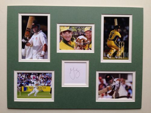 "Australian cricket mark waugh #signed 16""x12"" double #mounted picture #display,  View more on the LINK: 	http://www.zeppy.io/product/gb/2/282340714642/"