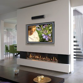 Long Slim Fireplace In 2019 Modern Fireplace Linear