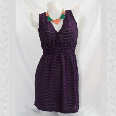 Purple Chainstitch Dress