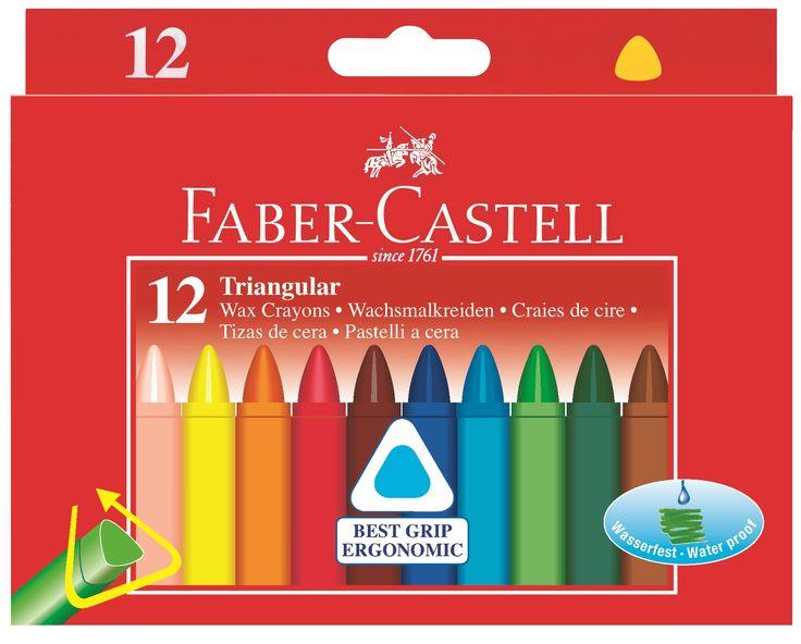 Zsírkréta, háromszögforma, Faber-Castell, 12 db-os