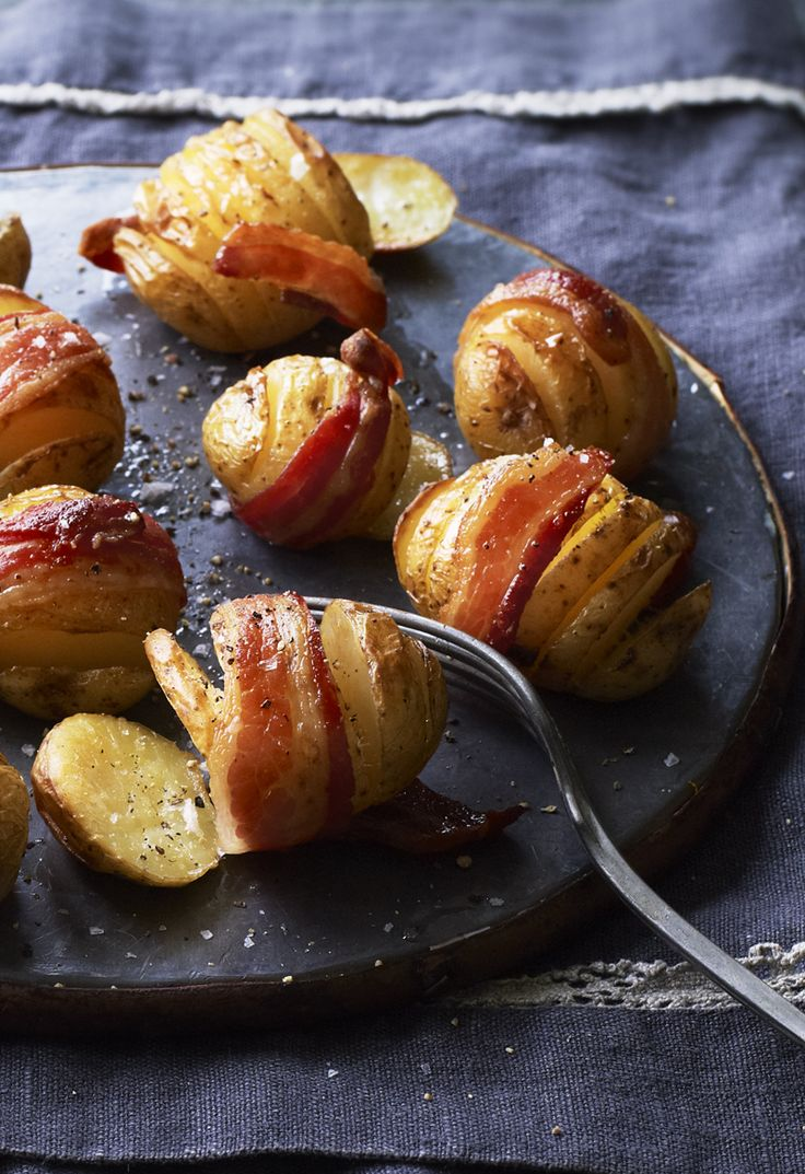 Potatoes and bacon are elevated to a dinky, fancy canape - but cost less than shop-bought party food. From Eat Well for Less