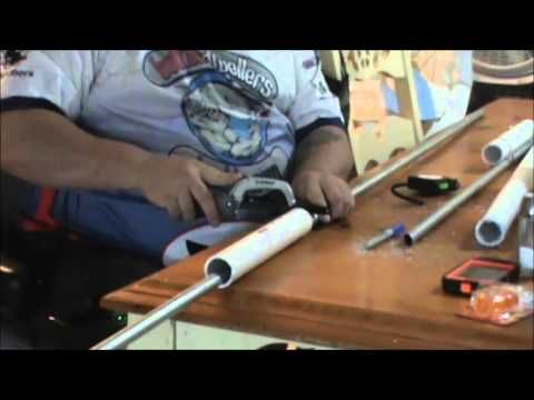 Make your own bank rod holders cheap youtube for Bank fishing rod holders