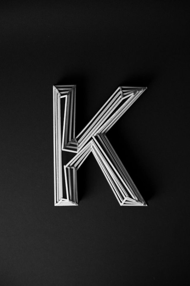 *This letter is very Random...picked up a small black letter k yesterday..