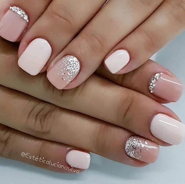 Hottest Nail Designs Best Nail Art Designs Short Nails Weddingnails In 2020 Cute Gel Nails Short Acrylic Nails Short Gel Nails
