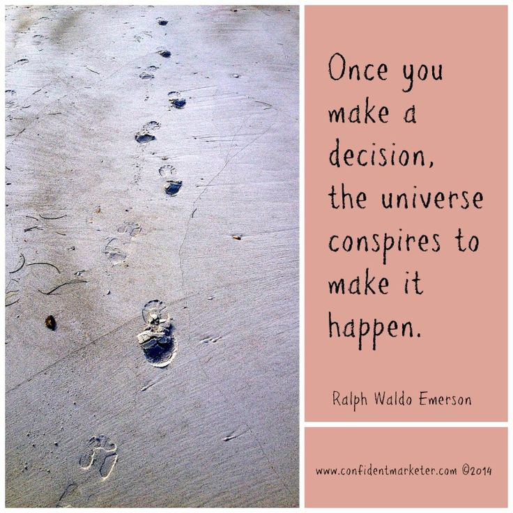 What are you making decisions about today? :-)  Sue, great question, as always.
