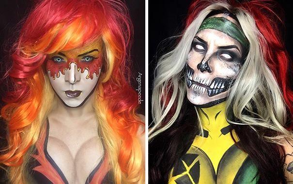 Фантастический макияж в стиле комиксов