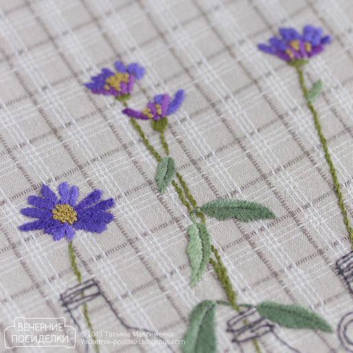 Цветочная подушка / Pillow with flowers - Вечерние посиделки