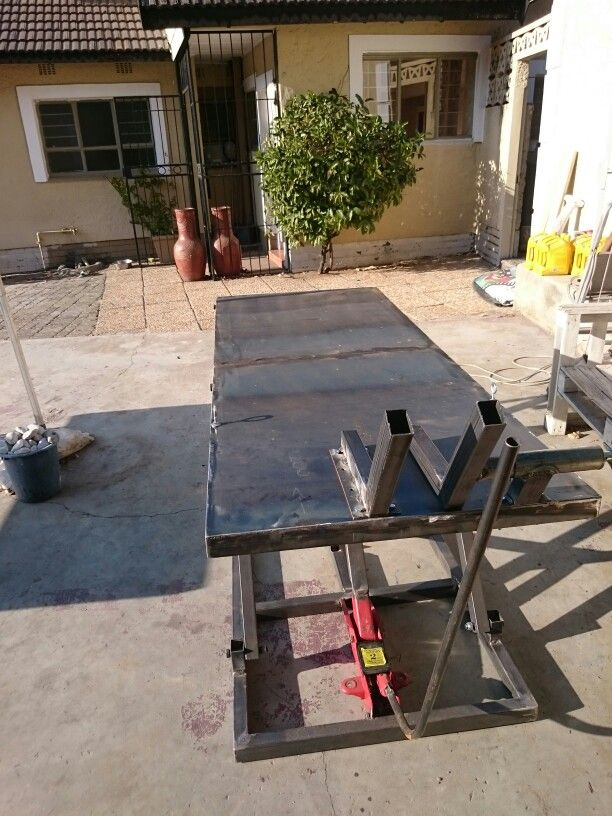 Motorcycle Lift Table Hydraulic Complete With Wheel Clamp