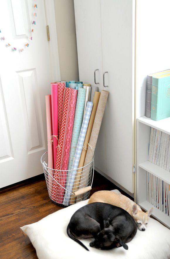 In My Studio: Organizing WrappingPaper - Home - Creature Comforts - daily inspiration, style, diy projects + freebies