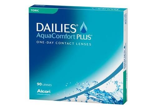 Buy Dailies AquaComfort Plus Toric 90 Pack contact lenses online. 50-70% off retail contact lenses in Canada. Get free shipping to Canada or US. No minimum order needed! No taxes!