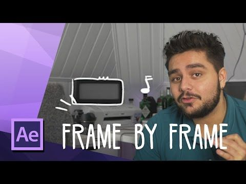 How To Create a Drawing Effect for Music Video's Frame by Frame Animation | After Effects  Tutorial - YouTube