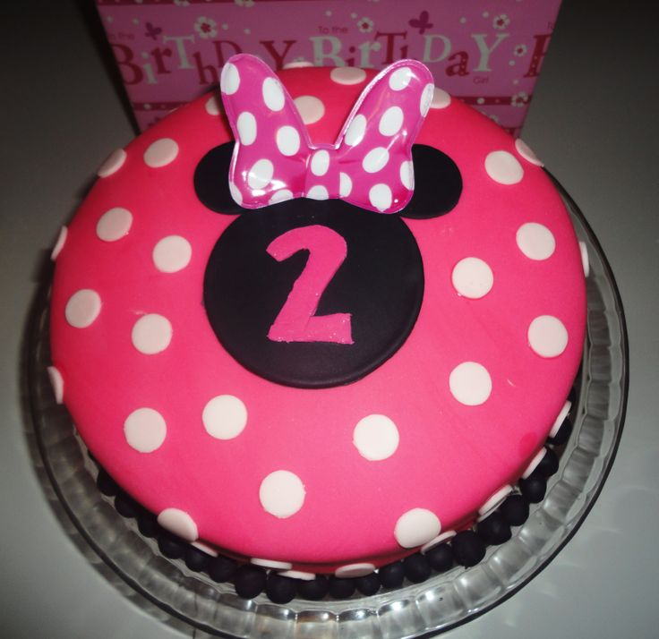 ... 2nd Birthday!! on Pinterest  Minnie mouse party, Minnie mouse cake