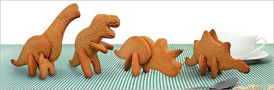 Make 3D Dinosaur Cookies with Dinosaur Cookie Cutters