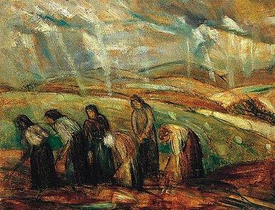 Egry József Mezőn című festménye