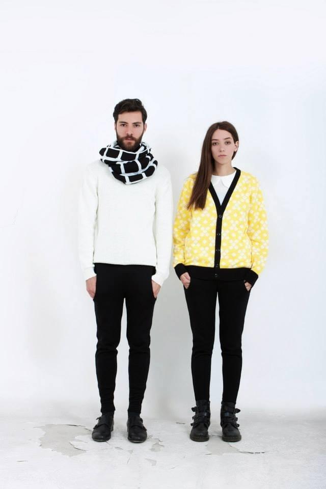 B r a c k e t s (maxi-scarf)  C o t t o n (cardigan)  S w e e t p a i n (peterpan collar knit blouse)