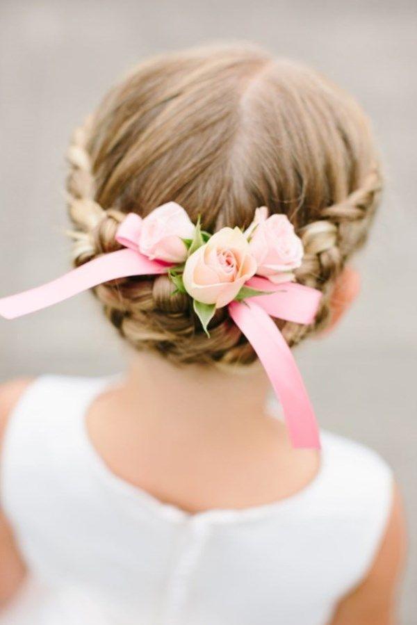 agrandir Coiffures de mariage pour petite fille tresse