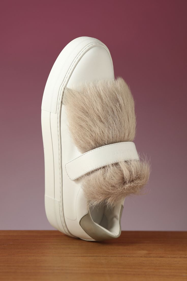 Fuzzy wuzzy Moncler sneakers! Have to have just in time for winter!